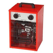 3KW INDUSTRIAL FAN HEATER - RECTANGLE RED  SQUARE ELECTRIC WORKSHOP GARAGE SHED