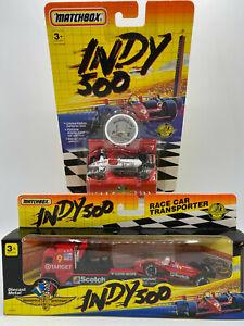 Matchbox Indy 500 Formula 1 Texaco Race Car & COE Tractor Truck w Trailer Lot