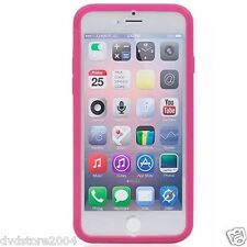 Custodia WALLET Cover FUCSIA FRONTE TRASPARENTE per Apple iPhone 6 4.7 Gel Gomma