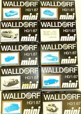 10 x Walldorf mini MB Morgan Goggo Ford Lloyd etc  1:87 OVP Bausatz ungebaut å *