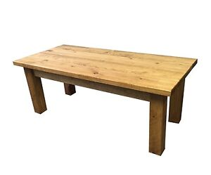 Ranch Coffee Table (Rustic, Farmhouse style, Solid wood, Hand Crafted End Table)