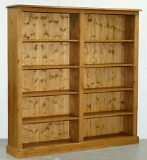 Large Double Bank Solid Pine Library Bookcase 182Cm High 183Cm Wide Lots Storage