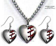 "MEND A BROKEN HEART NECKLACE & EARRINGS SET - LOST LOVE GIFT - FREE SHIP - 24""C*"