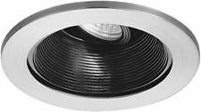 WAC Lighting HR-D411-BK/WT 5.125 in. Basic Baffle Recessed Low Voltage Lighting