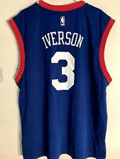 Adidas NBA Jersey Philadelphia 76ers Allen Iverson Blue sz S
