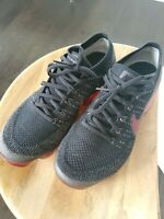 Men's Nike Air Vapormax Flyknit Bred Black Team Red Size 9.5 849558-013100