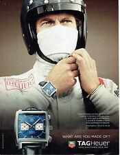 Publicité Advertising 108  2009   montre Tag Heuer Monaco calibre 12 St  McQueen