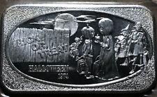 1974 Halloween Trick or Treat 1 Ounce .999 Silver Art Bar