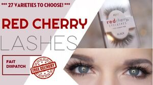 Red Cherry- Fake Eyelashes - Self-adhesive glue- NEW- Fast Dispatch- Easy to use