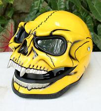 Motorcycle Helmet Skull Skeleton Visor Flip Up   GHOST RIDER Full Face  S - XXL