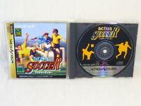 ACTUA SOCCER Sega Saturn Import Japan Video Game ss