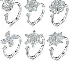 Adjustable Fidget Spinning Ring Women Ladies Fashion Jewellery Stress Reliever