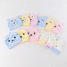 Newborn Baby Hat Unisex Bonnet Beanie Cap Autumn Winter Bear Smile Cotton Warm
