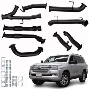 """LANDCRUISER EXHAUST 200 SERIES V8 3"""" TO 3.5"""" FULL SYSTEM CATS WITH PIPES ONLY"""