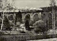 DDR AK Eisenbahn Dampflokomotive 1982 Sonderzug Syratalviadukt Brücke bei PLAUEN