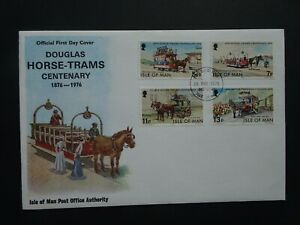 QEII Isle of Man Horse Tram Centenary official first day stamp cover