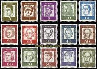EBS Berlin 1961-62 Famous Germans, Bedeutende Deutsche Michel 199-213 MNH**