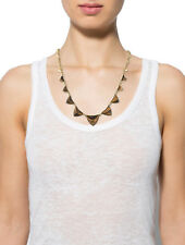 $124 NWT HOUSE OF HARLOW-Tiger's Eye Pyramid Station Necklace