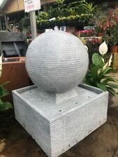 More details for zen sphere water feature for gardens - granite effect