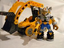 Fisher Price Rescue Heroes Voice Tech JACK HAMMER + Bulldozer