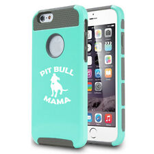 For iPhone SE 5 5s 5c 6 6s 7 Plus Shockproof Hard Soft Case Cover Pit Bull Mama