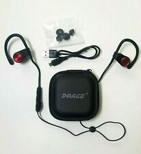 Red Bluetooth Earphones Doace E18 Wireless Sport Stereo Free Charge Accessories