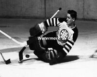 NHL 1950's HOFer Terry Sawchuk Boston Bruins Game Action 8 X 10 Photo Free Ship