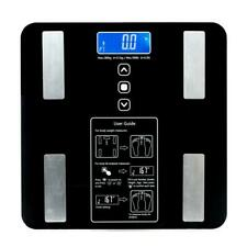 Digital Body Weight Scale 400 lb Electronic LCD Dial Bathroom Fat Fitness Health