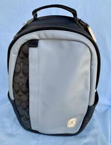 Coach * Men's Bag 3764 QBRCU Edge Backpack Sig Colorblock Pebble Blue Charcoal