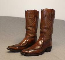 "Vintage Dan Post Western Cowboy Leather Riding boots men's 7.5D ""Made in Usa"""