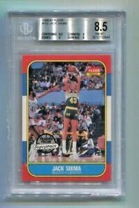 1986-87 Fleer - JACK SIKMA - Rookie Card #102 - SEATTLE SUPERSONICS BGS 8.5