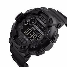 SKMEI Men's Watch G Style Sport Digital Display LED Shock Quartz Rubber Black