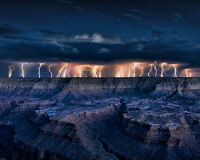 Arizona GRAND CANYON Glossy 8x10 Photo Lighting Storm Print Wall Art Poster