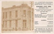 RPPC HAWARDEN STATE BANK Hawarden, Iowa 1907 Vintage Postcard