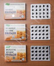 Shilajit NATURAL Moomiyo Mumijo  ALTAI Mountain - Bone Health LOT OF 3 PACK