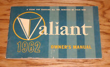 Original 1962 Plymouth Valiant Owners Operators Manual 62