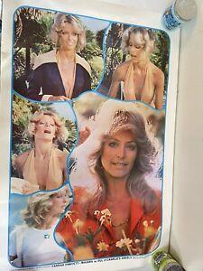 Farrah Fawcett vintage poster Jill Charlie's Angels Original Pre Cut Crop Lines
