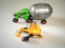 TRACTOR & EXCAVATOR MODEL CARS SET 1:160 N - KINDER SURPRISE PLASTIC MINIATURES