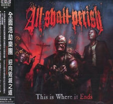 All shall perish: This is where it ends (2011) CD OBI TAIWAN