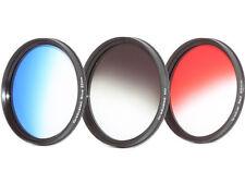 Verlauffsfilterset Farbfilter ROT + BLAU + ND GRAU Verlaufsfilter 62mm 62mm