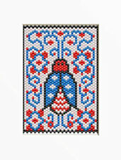 Patriotic Ladybug~Beaded Banner Pattern
