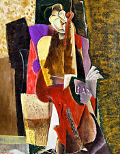 The Cellist by Max Weber A1+ High Quality Canvas Art Print