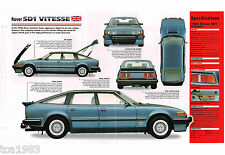 1983/1984/1985/1986 ROVER SD1 /SD-1 VITESSE SPEC SHEET/Brochure/Pamphlet/Catalog
