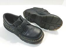 Dr Martens Monk Strap Buckle Leather Black Unisex 3A78 Shoes US 6 Men, 7 Women