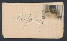 1932 AL JOLSON & GRACIE ALLEN Movie Star Autograph, VINTAGE Signed Album Page