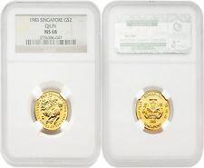 Singapore 1983 Qilin $2 Gold NGC MS68