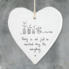East Of India Hanging Heart Gift Family Is Everything 6213-EOI