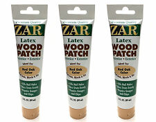 Zar 31041 Interior / Exterior Latex Red Oak Wood Patch, 3-Ounce Tube, Lot of 3
