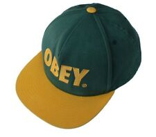 OBEY Green and Yellow Vintage Baseball Cap, One-Size