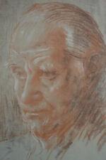 AUGUSTUS JOHN DRAWING SIR NORMAN ANGELL FACSIMILE DRAWING VAN LEER AMSTERDAM